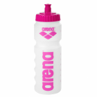 front of bottle with pink logo