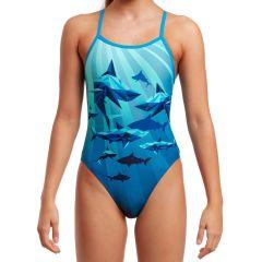 Funkita Shark Bay - Girls Single Strap Swimsuit