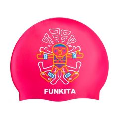 Front of cap showcasing the design