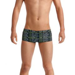 cropped close image of model in trunks