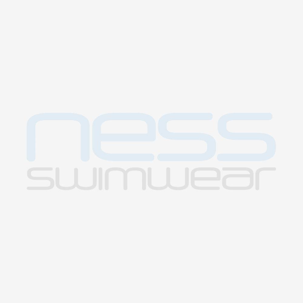 front of swim cap showing design