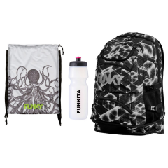 Funky swimmers backpack set