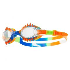 TYR Swimple Spikes Tie Dye Goggles Clear Orange