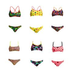 All six variations of the Funkita bikinis