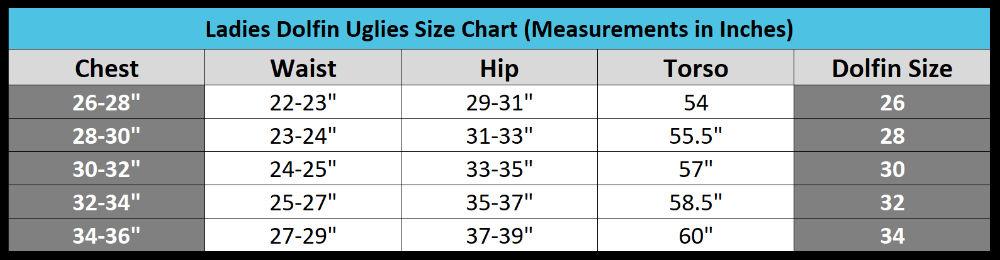 dolfin uglies size chart